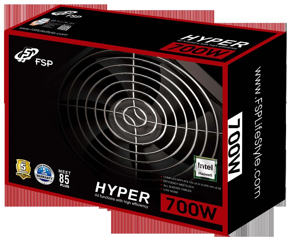 Hyper S (500/600/700W) Effizienz >85%